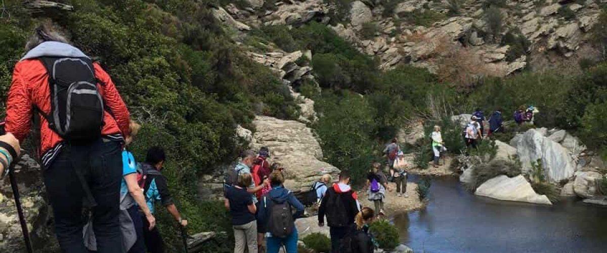 Route 14 Frousei River landscape hikers
